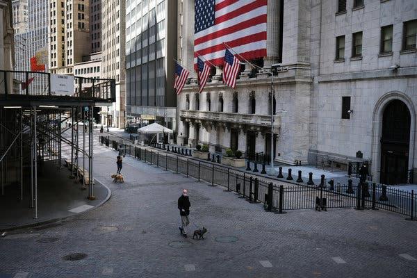 Outside the New York Stock Exchange on Thursday.